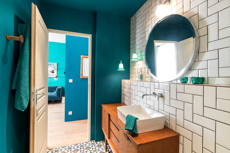 Insides Eclectic style bathroom Blue