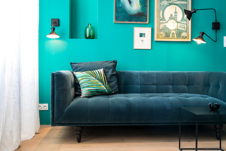 Insides Eclectic style living room Blue