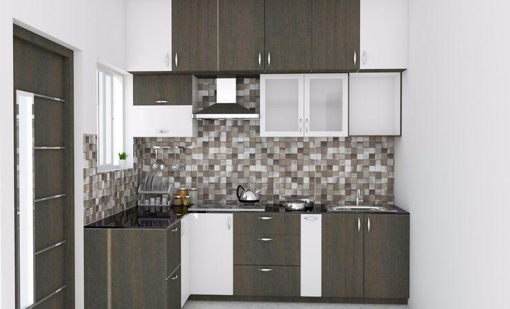 ServiceBELL Solutions PVT Ltd KitchenCabinets & shelves Kayu Lapis Brown