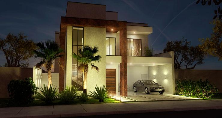 Sobrado Moderno e Aconchegante ADRIANA MELLO ARQUITETURA Casas modernas