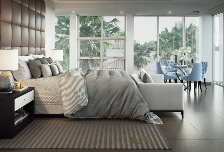m.frahat Modern style bedroom Beige