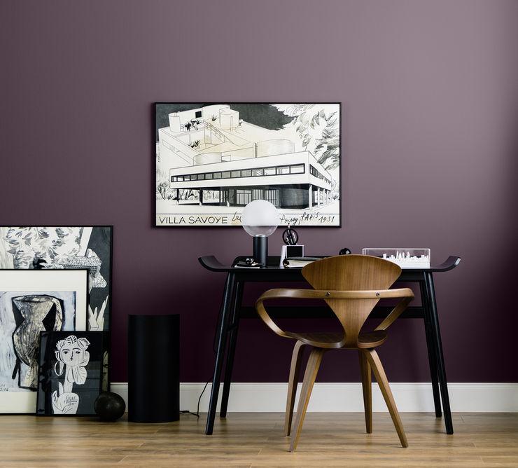 Canary Wharf - Architects' Finest SCHÖNER WOHNEN-FARBE Moderne Arbeitszimmer Rot
