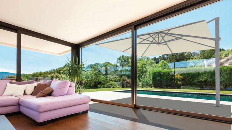Solero Parasols Jardines de estilo moderno Aluminio/Cinc Blanco