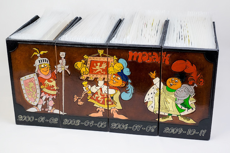 Sammler Box Merlin-Style Geschäftsräume & Stores Leder Mehrfarbig