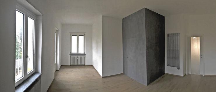 Aulaquattro Livings de estilo moderno Blanco