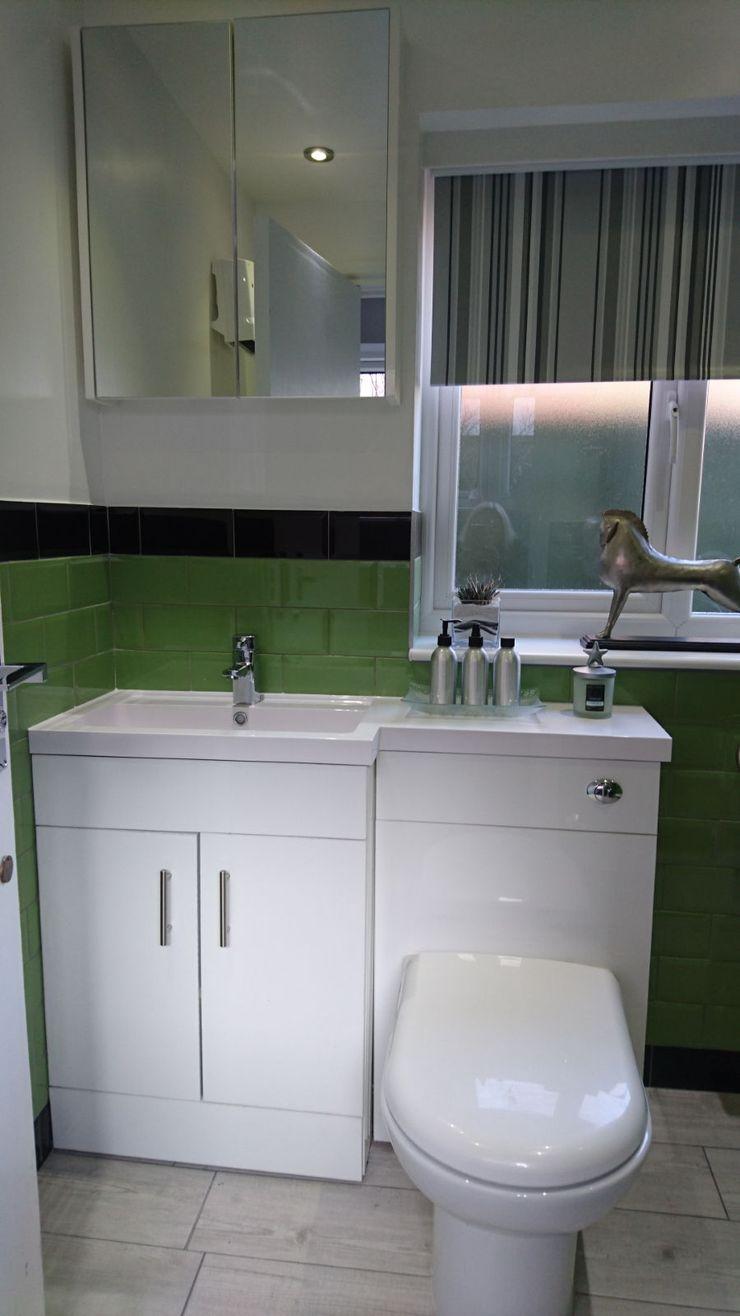 Bathroom Refurbishment and Re-design Kerry Holden Interiors Modern bathroom Green