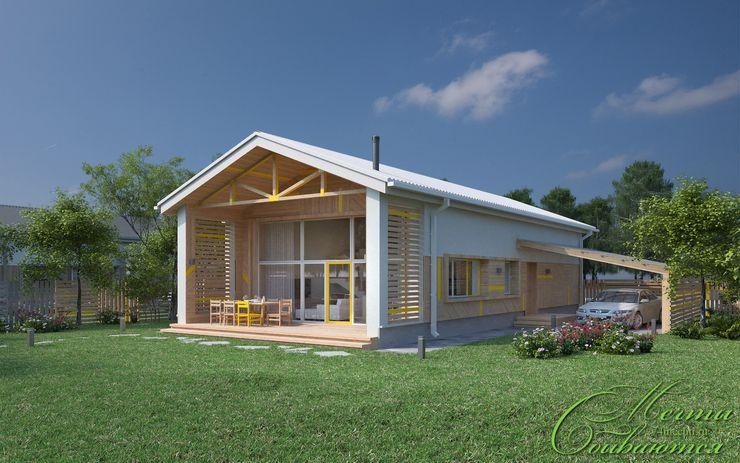 Компания архитекторов Латышевых 'Мечты сбываются' Casas de estilo rural