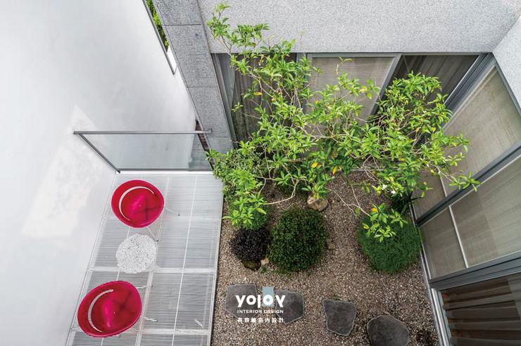 自然。隱逸 - 北歐風格 有容藝室內裝修設計有限公司 露臺