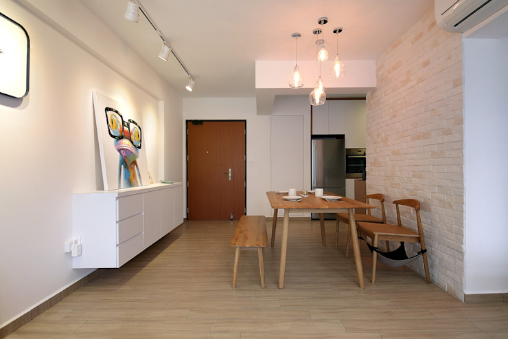 Renozone Interior design house Scandinavian style dining room White