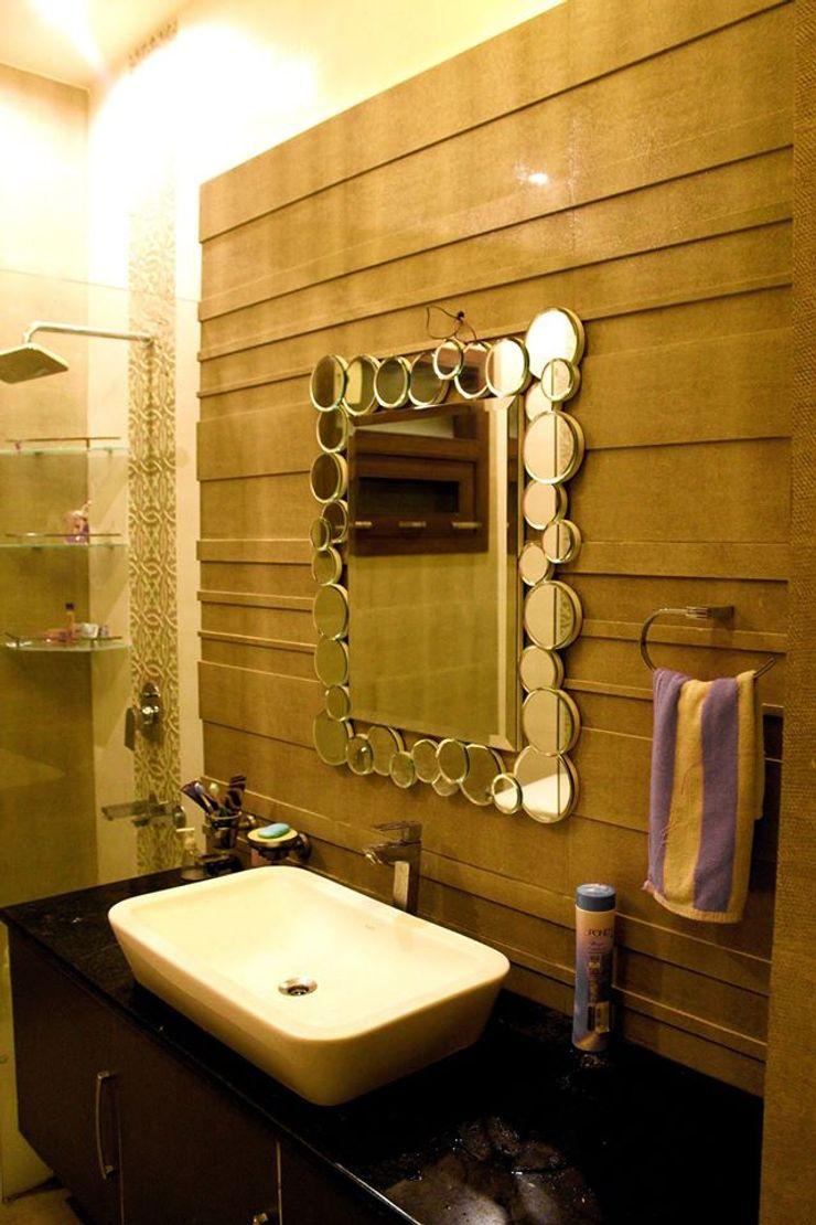 RESIDENCE : AMRITSAR TULI ARCHITECTS AND ENGINEERS Modern Bathroom Stone Beige
