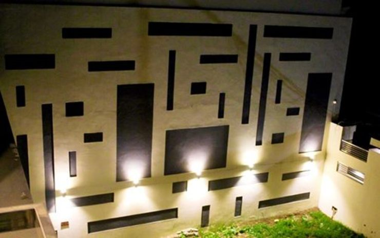 RESIDENCE : AMRITSAR TULI ARCHITECTS AND ENGINEERS Modern Garden Concrete Grey