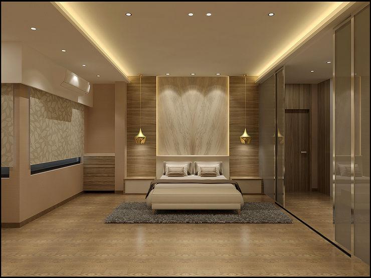 Master Bedroom homify Minimalist bedroom Engineered Wood Brown