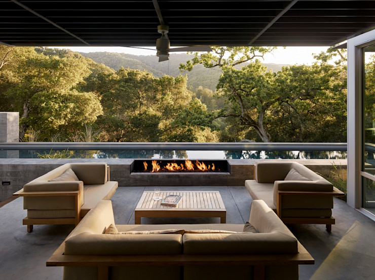 Feldman Architecture Modern style balcony, porch & terrace