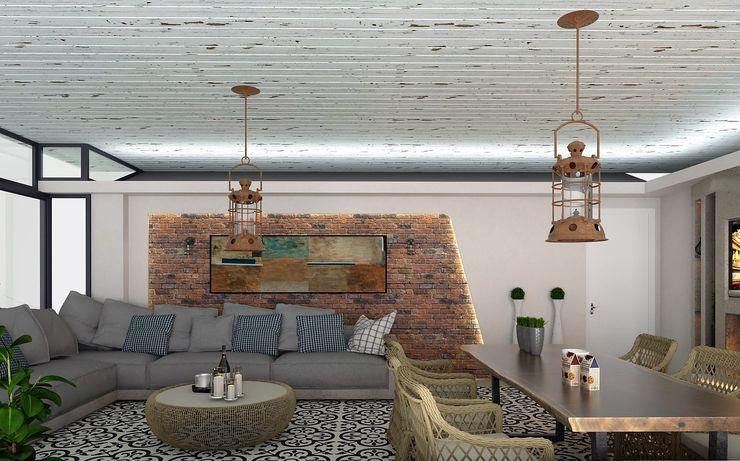 Murat Aksel Architecture Jardin d'hiver moderne Bois Effet bois