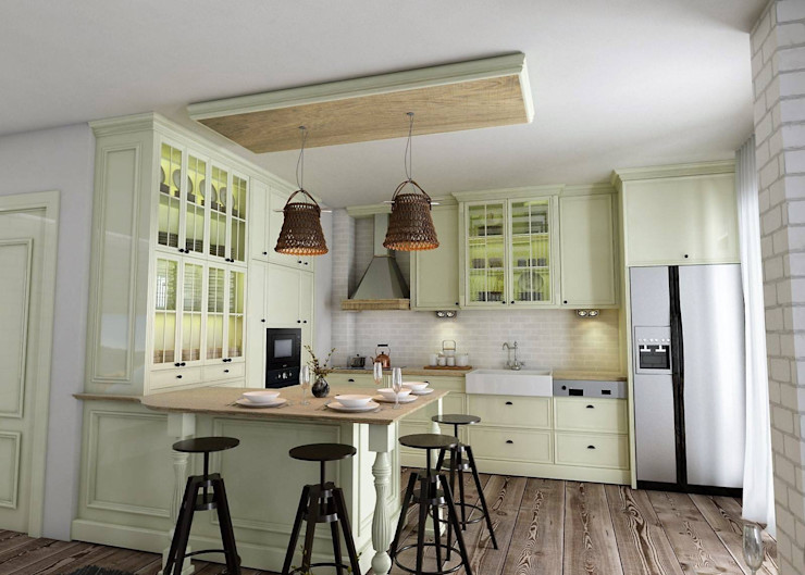Murat Aksel Architecture Country style kitchen Wood Beige