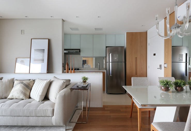 Danyela Corrêa Arquitetura Cucina moderna MDF Bianco