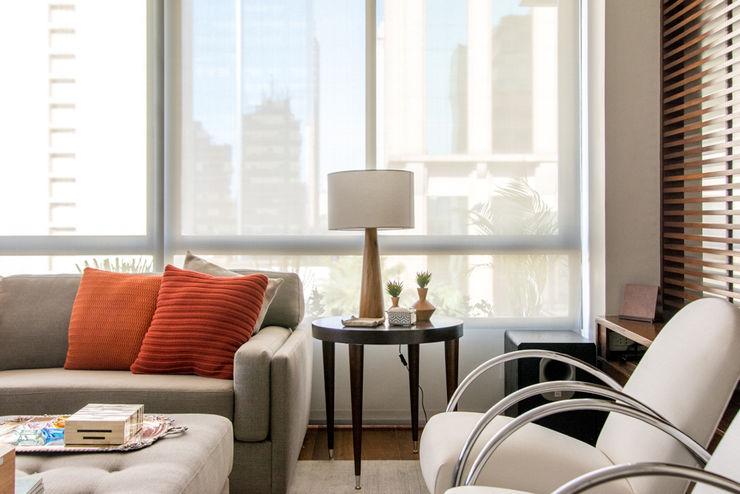 Sala de estar Danyela Corrêa Arquitetura Salas de estar modernas Madeira Efeito de madeira