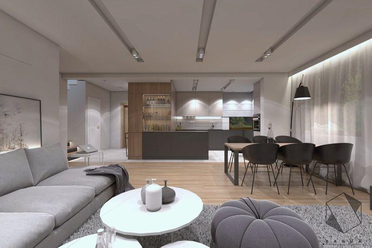 BAGUA Pracownia Architektury Wnętrz Salones modernos