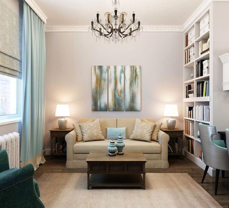 Massimos / cтудия дизайна интерьера Living room Turquoise