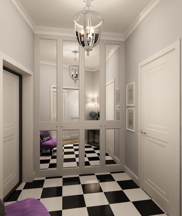 Massimos / cтудия дизайна интерьера Classic style corridor, hallway and stairs Tiles Grey