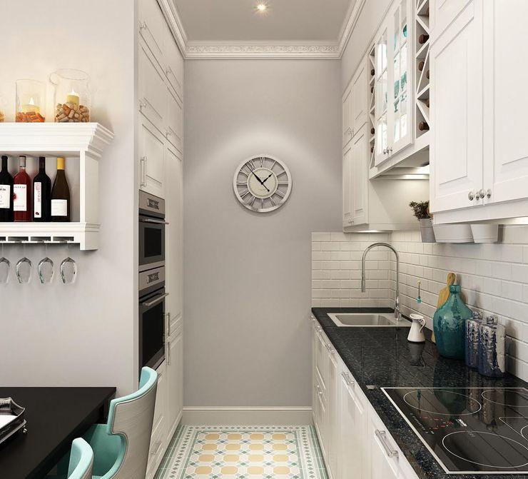 Massimos / cтудия дизайна интерьера Kitchen White