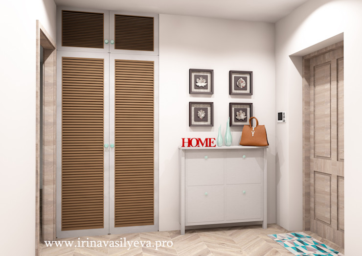 Irina Vasilyeva Eclectic style corridor, hallway & stairs