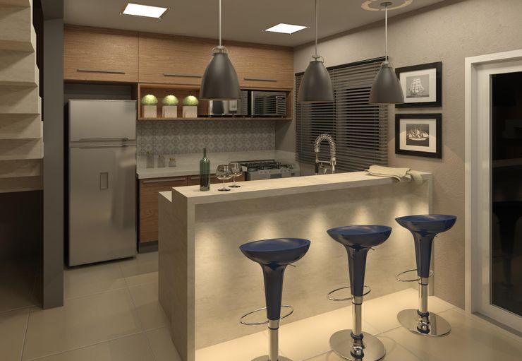 COZINHA - PROJETO DE MARCENARIA VOLF arquitetura & design Cozinhas modernas