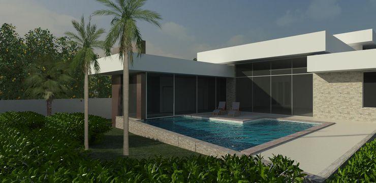 JCWK arquitetura (jancowski arquitetura) Kolam Renang Modern