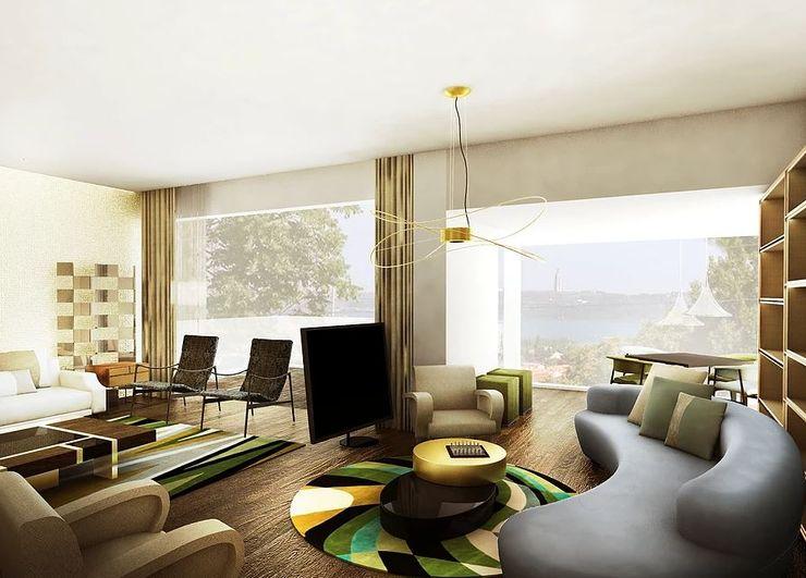 FEMMA Interior Design 现代客厅設計點子、靈感 & 圖片