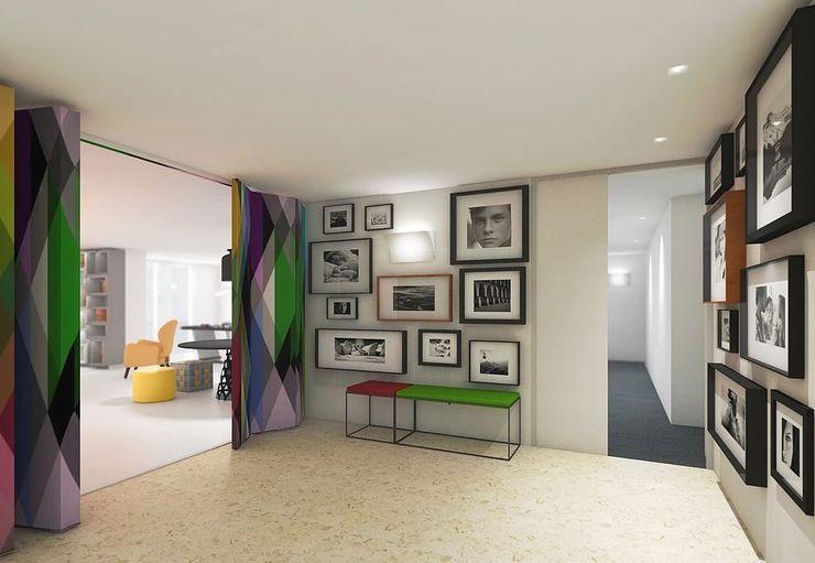 FEMMA Interior Design 現代風玄關、走廊與階梯