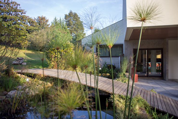 View from the Lake José António Andrade Interiors Jardins ecléticos
