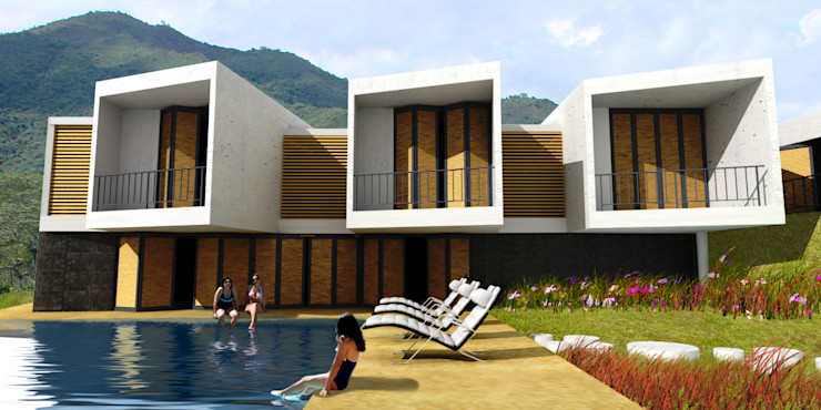 CASA L2_ San Jerónimo - Antioquia @tresarquitectos Casas de estilo minimalista