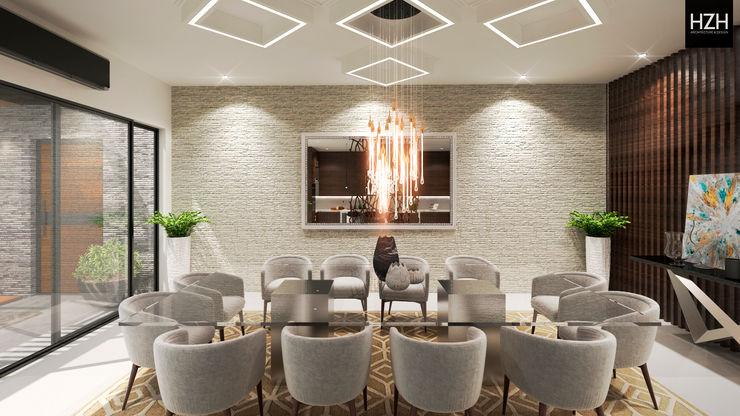 Área de comedor. HZH Arquitectura & Diseño Comedores modernos