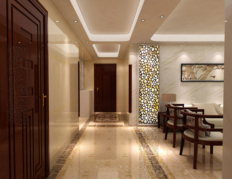 CNC Carving Faux Alabaster in China ShellShock Designs Asian style living room Stone Multicolored