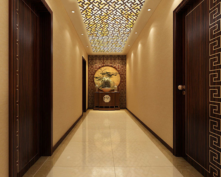 CNC Carving Faux Alabaster in China ShellShock Designs Asian style corridor, hallway & stairs Stone Beige