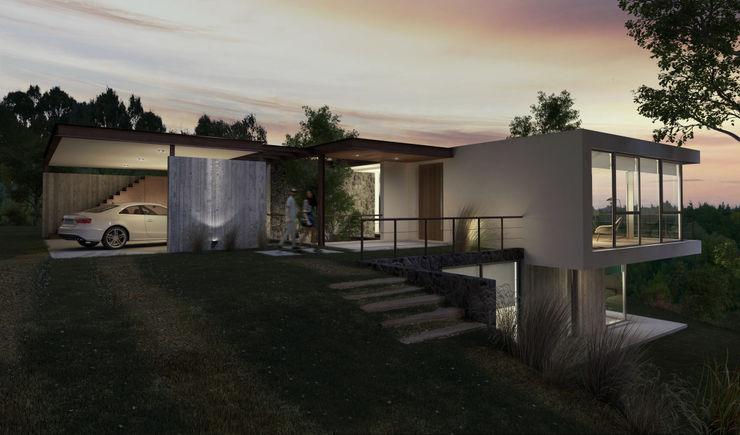 AR arquitectos Modern houses Concrete