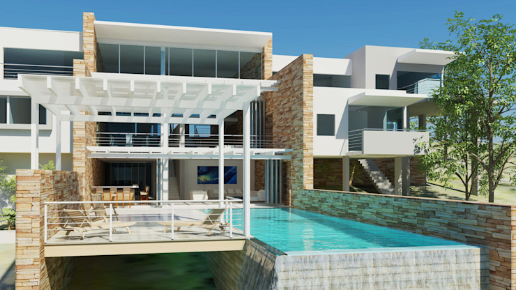 Concept sketch Edge Design Studio Architects Minimalist house Glass White