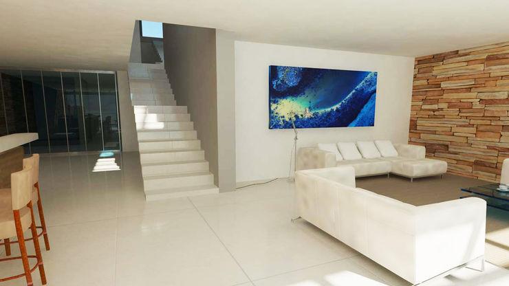 link Edge Design Studio Architects Media room Concrete Metallic/Silver
