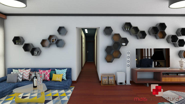 Sala TV Mais Arquitetura 34 Salas de estar modernas