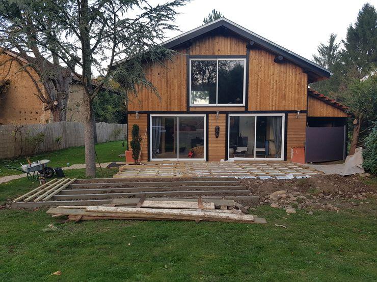 Création de la terrasse extérieure en prolongement du bâtiment KREA Koncept Spa rural