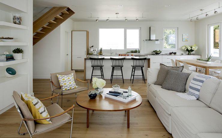 Living & Kitchen ZeroEnergy Design Modern Living Room White