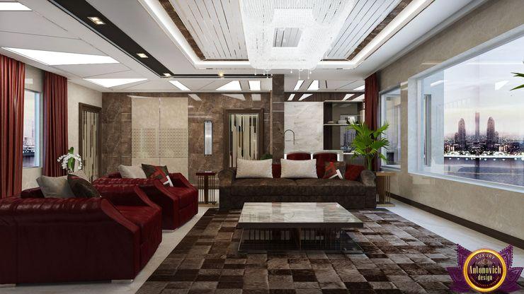 Luxury Antonovich Design 现代客厅設計點子、靈感 & 圖片