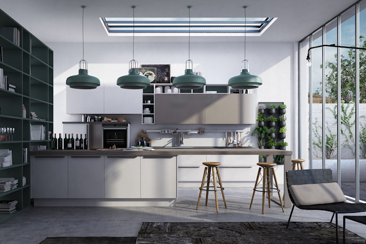 kitchen Studio Gentile Cucina in stile industriale