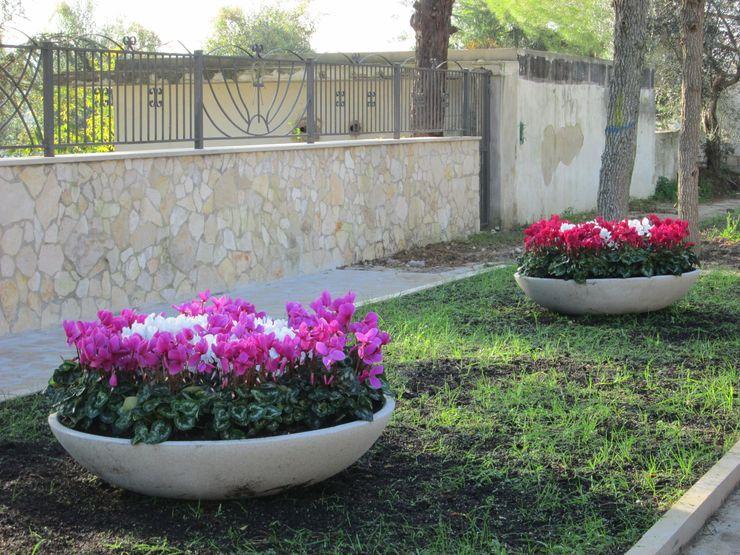 Ciotole da giardino P.M.C. srl GiardinoFioriere & Vasi Cemento Bianco