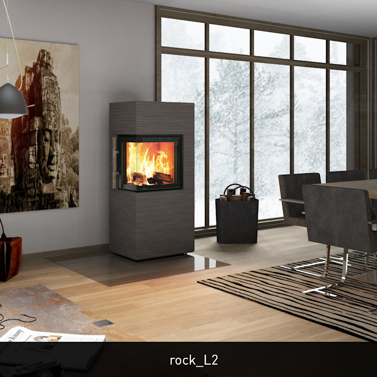 CB-tec GmbH Вітальня Камінь