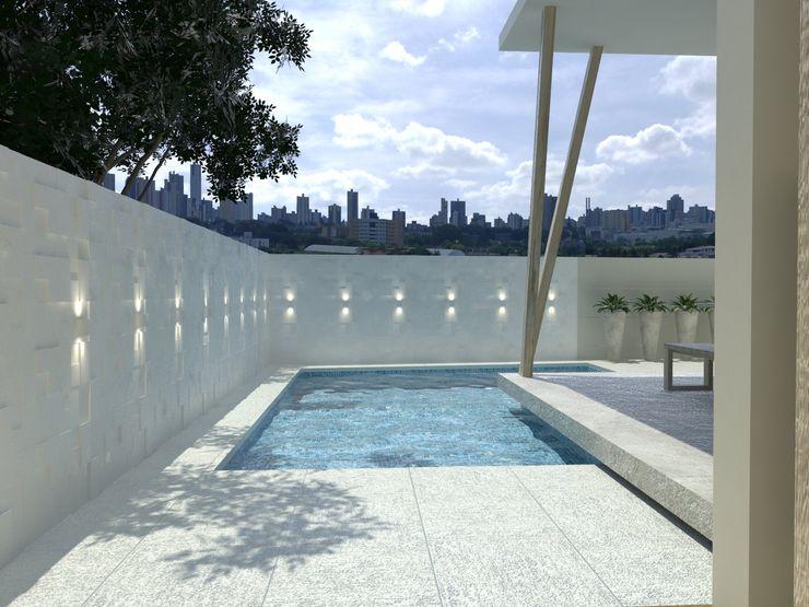 Larissa Vinagre Arquitetos Piscinas de estilo moderno