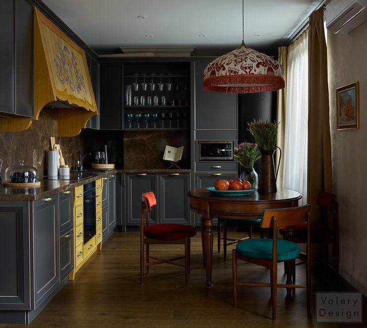 Valery Design Cocinas de estilo ecléctico Tablero DM Beige