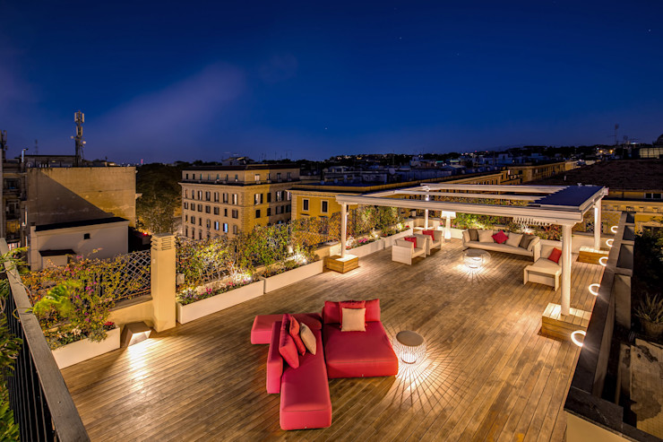 GERMANICO MOB ARCHITECTS Balcone, Veranda & Terrazza in stile moderno