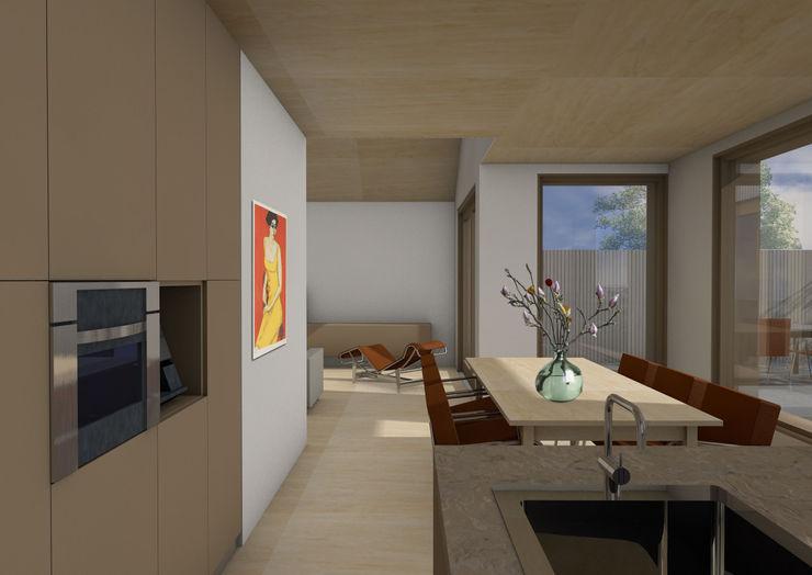 Dick van Aken Architectuur Modern style kitchen Wood Brown