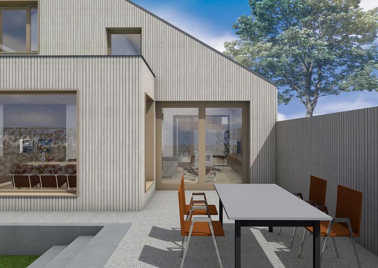 Dick van Aken Architectuur Modern style balcony, porch & terrace Wood Wood effect